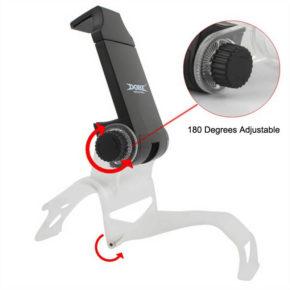 PS4-Black-Smart-Phone-Clip-Clamp-Mount-Adjustable-Bracket-Handset-Holder-For-Samsung-LG-Android-Holder