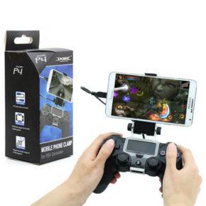 PS4-Black-Smart-Phone-Clip-Clamp-Mount-Adjustable-Bracket-Handset-Holder-For-Samsung-LG-Android-Holderi