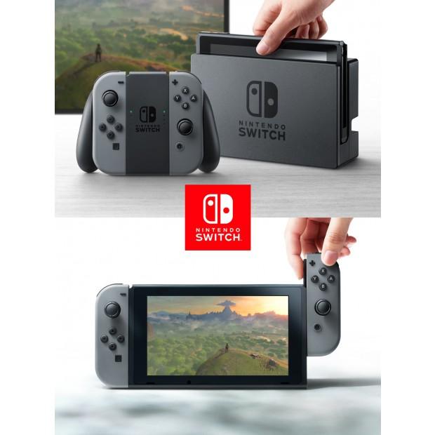 nintendo switch avec une paire de joy con gris switch achat jeux video maroc
