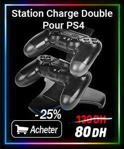 Station de Charge Double USB pour Manette PS4