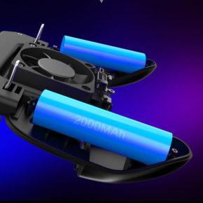 SR Pubg Contrôleur Gamepad Pubg Mobile Trigger L1R1 Shooter Joystick manette de jeu support pour téléphone Refroidisseur Ventilateur 2000/4000 mAh batterie externe