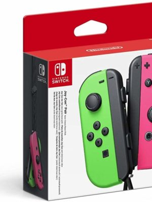 Paire-manettes Joy-Con-NintendoSwitch-rouge-rose-neon