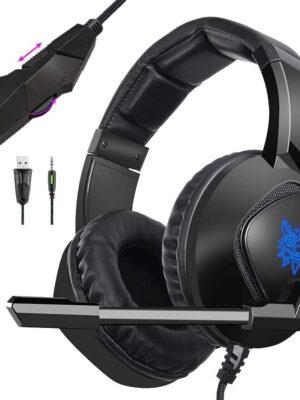 ONIKUMA K19 Headphones-Microphone Computer Playstation-Black