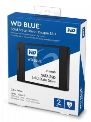 "WD Blue™ - Disque SSD Interne - 3D Nand - 2To - 2.5"" (WDS200T2B0A)"