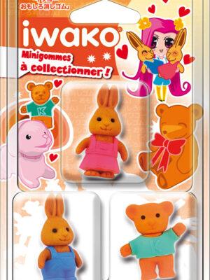 IWAKO 3 Mini gommes Animaux claiques