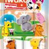 IWAKO 3 Mini gommes Animaux du zoo