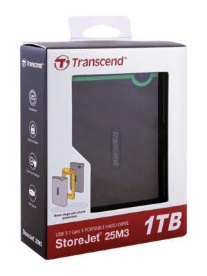 Transcend StoreJet 25M3 Portable USB 3.1 Hard Drive 1TB