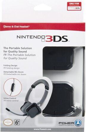 Micro-casque stéréo pour Nintendo 3DS – noir