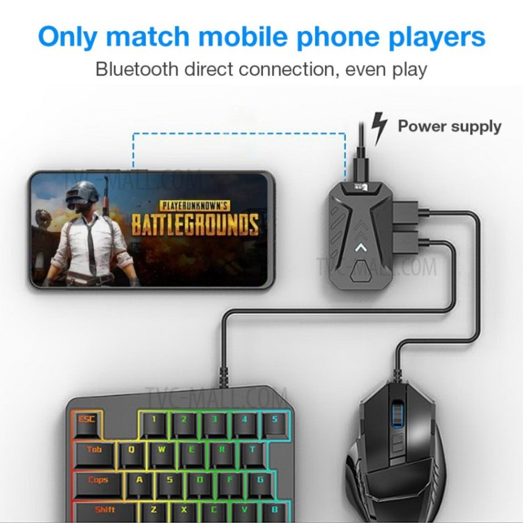 GAMWING MIXPRO - Convertisseur Bluetooth clavier et souris avec support ( Android / IOS )