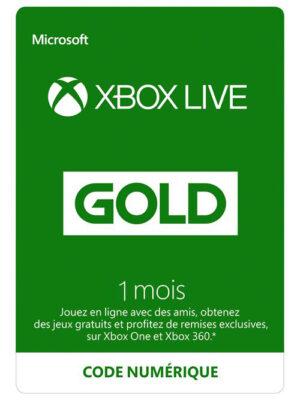 Code de téléchargement Xbox Live Gold : 1 mois d'abonnement